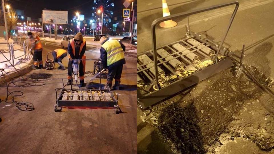 Дорожники Челябинска приступили к восстановлению дефектов на асфальте