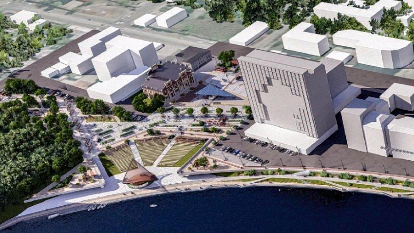 Мэрия Челябинска ищет нового подрядчика для строительства набережной в историческом центре