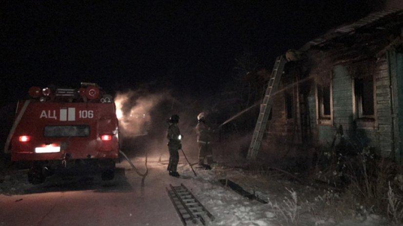 Губернатор потребовал разобраться в причинах пожара в Еманжелинке