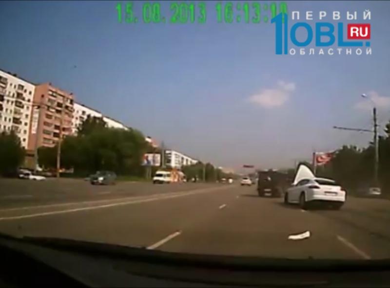 Авария с porsche panamera и маршруткой попала на камеру видеорегистратора