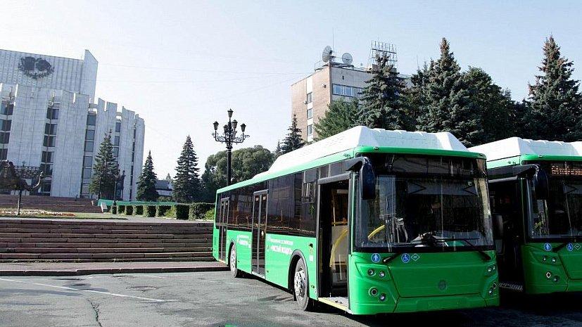 В Челябинск привезли еще 28 автобусов на сжиженном газе