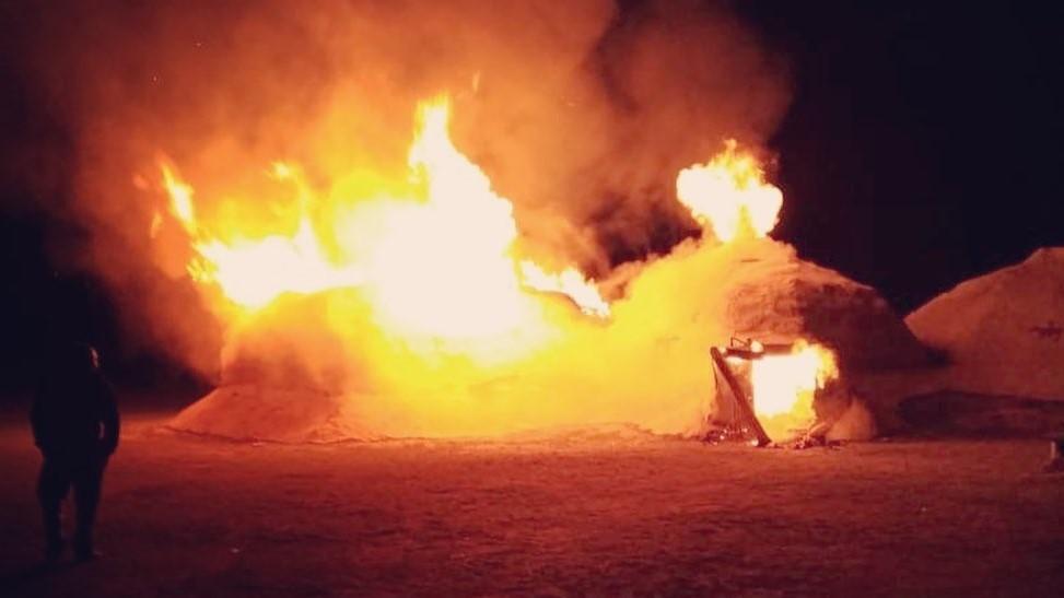 Во время пожара на Аркаиме удалось сохранить исторические артефакты