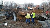 На месте провала грунта напересечении улиц Куйбышева и Чайковского в Челябинске открыли движение