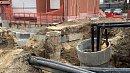 На месте провала грунта наулице Куйбышева закончили монтаж временного коллектора
