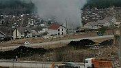 На тушение огня вжилом доме вЮрюзани вызвали пожарные расчеты изсоседних городов