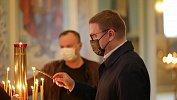 Алексей Текслер ссупругой вПасху посетили кафедральный собор