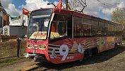 В Челябинске вышел налинию трамвай Победы