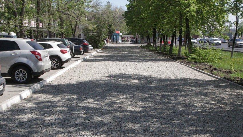 В Челябинске проводится комплексное благоустройство Комсомольского проспекта