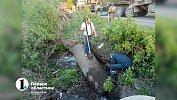 В Коркино продолжают устранять последствия аварии нацентральном водоводе