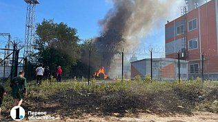 В Челябинске врайоне зоопарка произошел пожар рядом сподстанцией