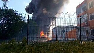 Пожар возле зоопарка в Челябинске