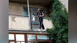 В Магнитогорске спасение кошки попало на видео