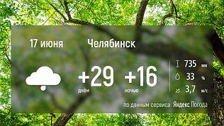 В Челябинской области ожидаются жара и грозы