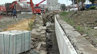Реконструкция набережной Миасса от улицы Кирова идет к завершению