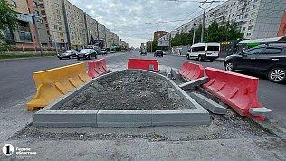 На Комсомольском проспекте вЧелябинске продолжат устанавливать островки безопасности