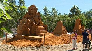 В Челябинске открыли парк песчаных скульптур