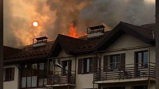 Жители горевшего в Залесье дома рассказали о начале пожара