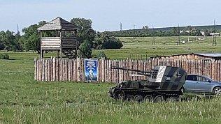 В Верхнеуральском районе казаки катают туристов на немецкой военной технике
