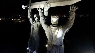 В Магнитогорске сняли на видео акцию «Лучи Победы»