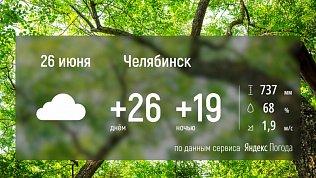 В Челябинской области ожидается жаркий, но дождливый день