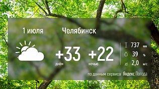 В Челябинской области ожидается пасмурный, но по-прежнему жаркий день