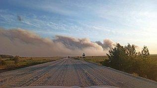 В Карталинском районе вовремя лесных пожаров жилые дома непострадали