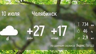 Солнечная погода уходит из Челябинской области