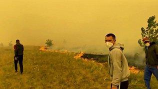 Пожар в Карталинском районе