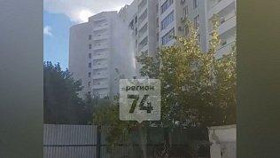 Видео фонтана из теплотрассы в центре Челябинска
