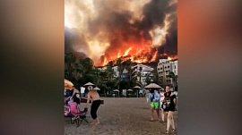 Турция в огне: видео природной катастрофы