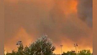 Природные пожары в Греции попали в объектив камеры