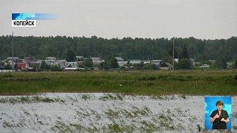 На озере Синеглазово откачивают воду