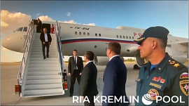 Самолет Владимира Путина приземлился в Магнитогорске