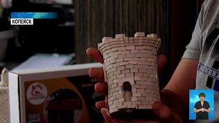 Житель Копейска строит дома из мини-кирпичей
