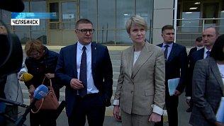 Текслер и Шмелева посетили школу в Чурилово