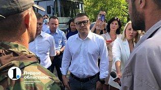 В Копейске Алексей Текслер пообщался сжителями облагоустройстве парка Победы
