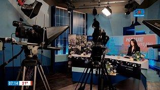 Пробы в телестудии в сюжете «Мастер-класс для финалистов проекта «Лица-3»