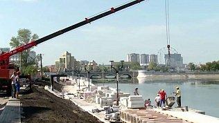 В центре Челябинска завершают реконструкцию набережной