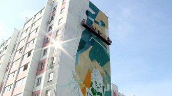 Продолжается работа над граффити в Миассе