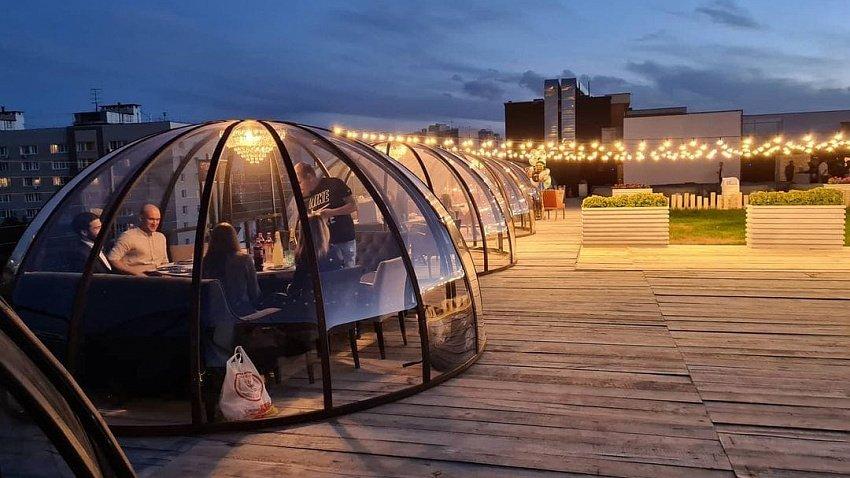 На крыше «Мегаполиса» в Челябинске откроется бар с прозрачными «иглу»