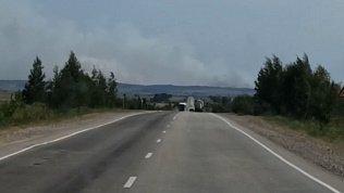 Возле села Степное очевидцы сняли на видео пожар