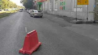 Провал асфальта вцентре Челябинска планируют устранить до27августа