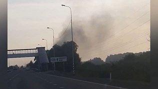 Видео лесного пожара в Челябинске