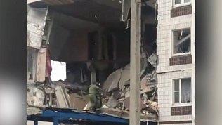 Видео с места взрыва в жилом доме в Ногинске
