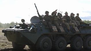 Видео танковой баталии на полигоне под Чебаркулём