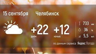 На Южном Урале сохранится теплая погода