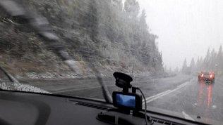 Первый снег выпал вЧелябинской области подЗлатоустом