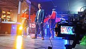 В Челябинске поющий шиномонтажник вместе с финалистом «Битвы хоров» сняли клип