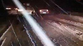 Видео снегопада на трассах Южного Урала