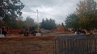 Ликвидацию песочных скульптур сняли на видео в Челябинске